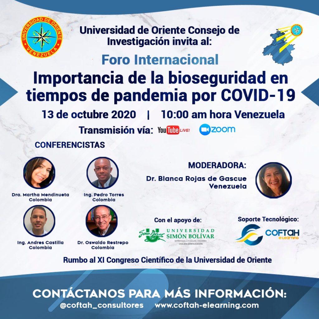 Importancia de la Bioseguridad en tiempos de pandemia por Covid 19